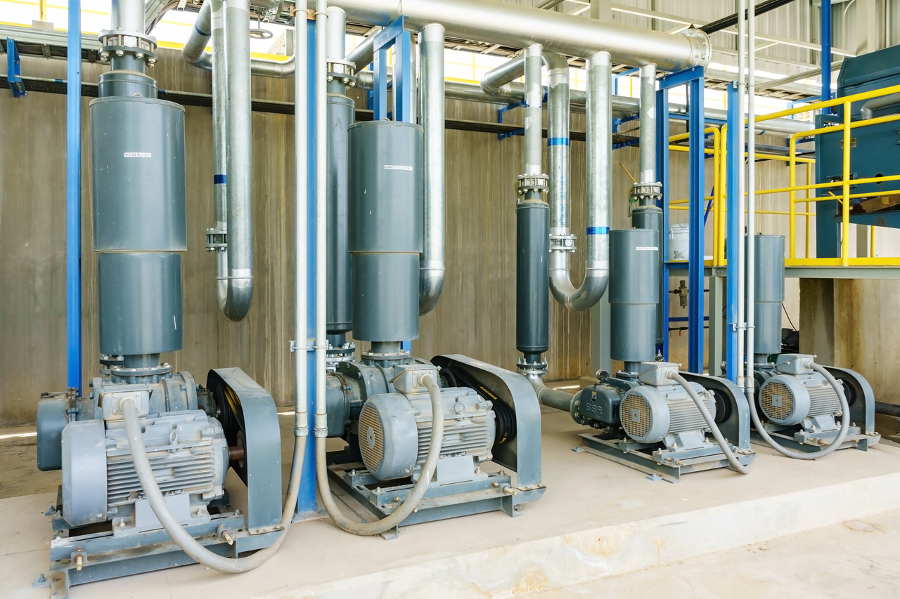 GI Pipes in a waste water treatment plant