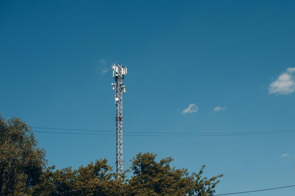 Telecommunication tower of 4G and 5G cellular. Cell Base Station. Wireless Communication Antenna Transmitter. Telecommunication mobile technology